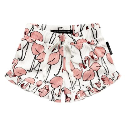 Popcorn Kids | Your Wishes. Flamingo ruffle short