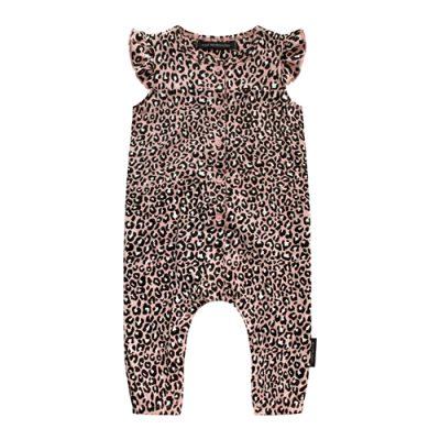 Popcorn Kids | Your wishes onesie leopard Pink