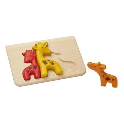 Popcornkids.Plan-toys-puzzel-girafe