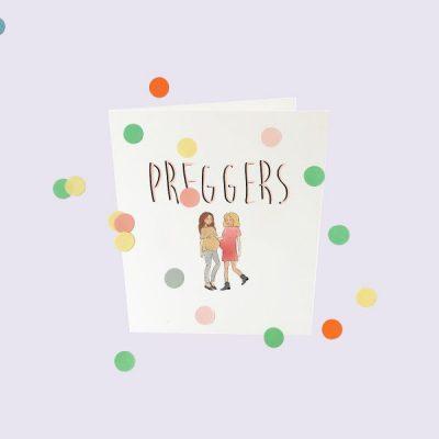 popcornkids.Confettikaart.preggers