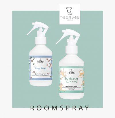 the gift label roomspray en Popcornkids