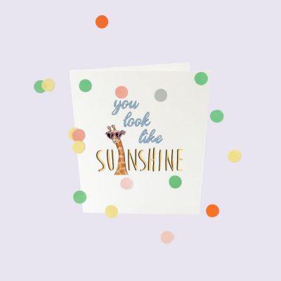 Popconkids.confettikaart.sunshine