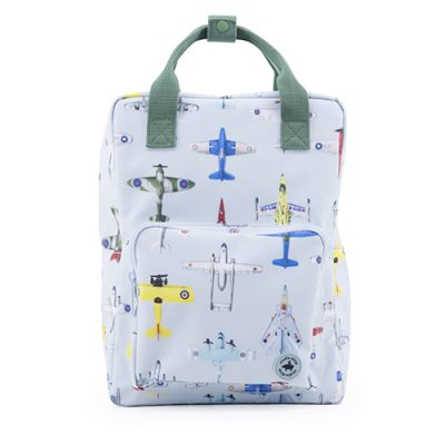 popcornkids- Studio Ditte - backpack large - boys - airplanes