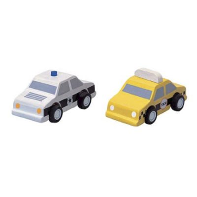 popcornkids.City taxi & Police car