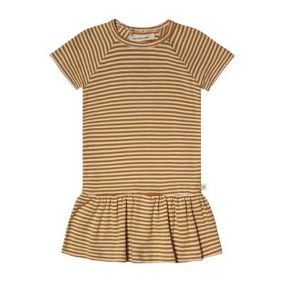 Your Wishes-Dress shift-Golden Stripe-Popcorn Kids