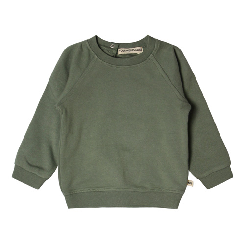 Your Wishes-Sweater-Old green-Popcorn Kids