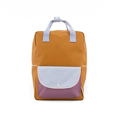 Sticky Lemon-1801664-backpack_large-caramel_fudge+sky_blue+pirate_purple-voorkant-Popcorn kidskopie