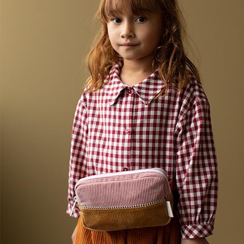 Sticky Lemon-1801819 – corduroy - fannypack – dijon + dusty pink + carrot - Sfeerfoto-Popcorn kidskopie
