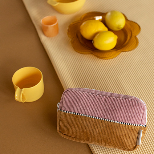 Sticky Lemon- 1801819 – corduroy - fannypack – dijon + dusty pink + carrot - sfeerfoto2-popcorn kidskopie