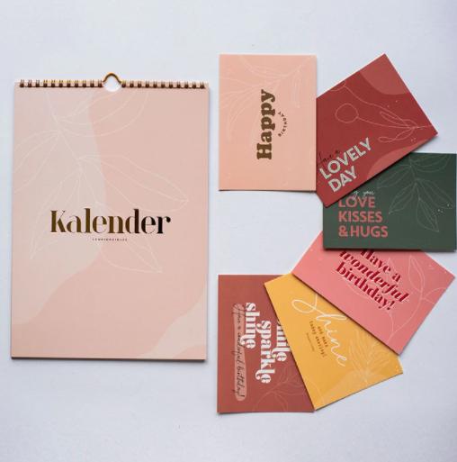 Leukigheidjes-Kalender met kaarten-Popcorn Kids